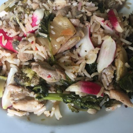Kimchi Chicken Rice