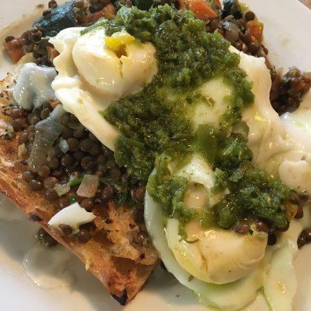 Green Eggs Over Lentils