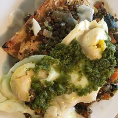 Green Eggs Over Lentils
